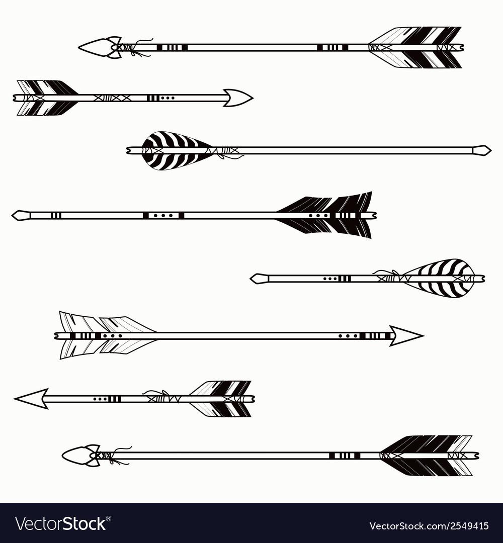 Set of ethnic arrows vector