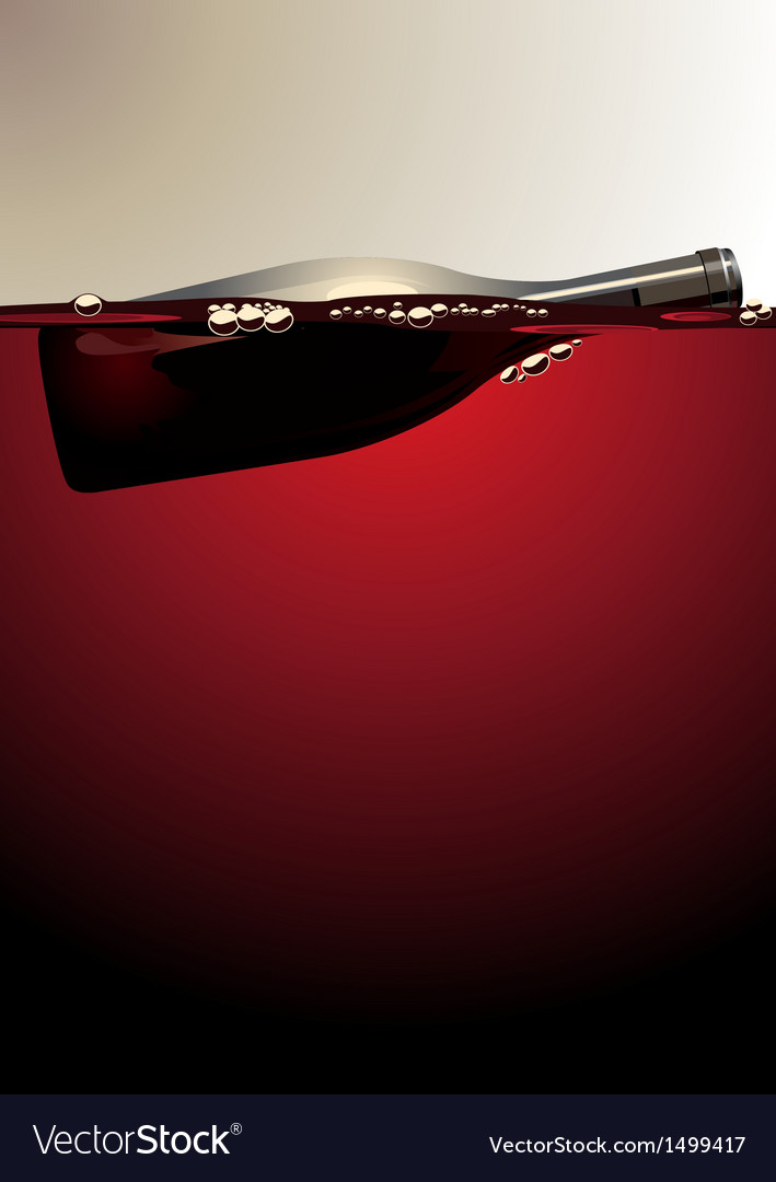Wine bottle vector