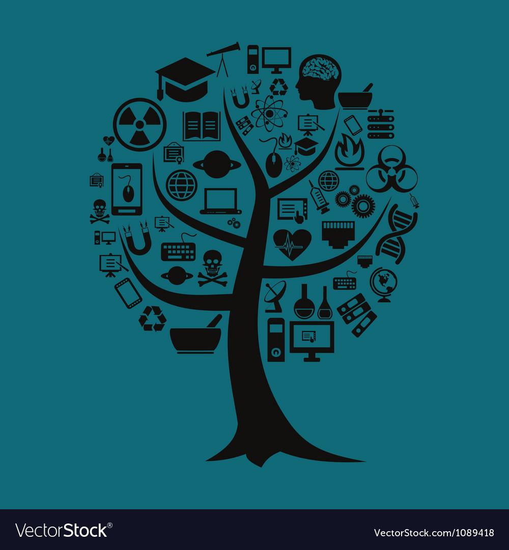 Tree of science vector