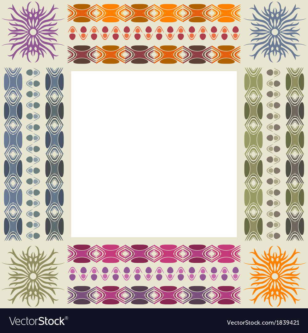 Ornamental photo frame vector