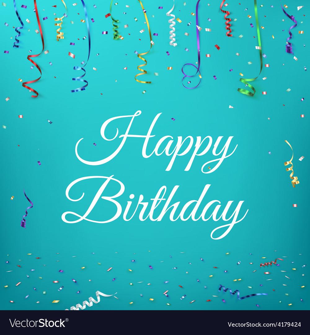 Happy birthday celebration background vector