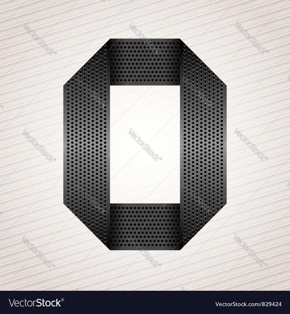 Letter metal ribbon - o vector