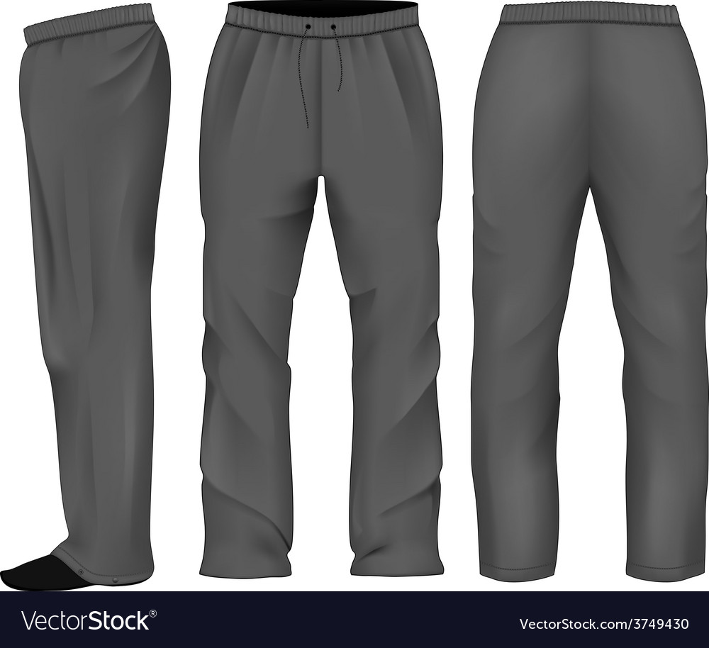 Men sweatpants black vector