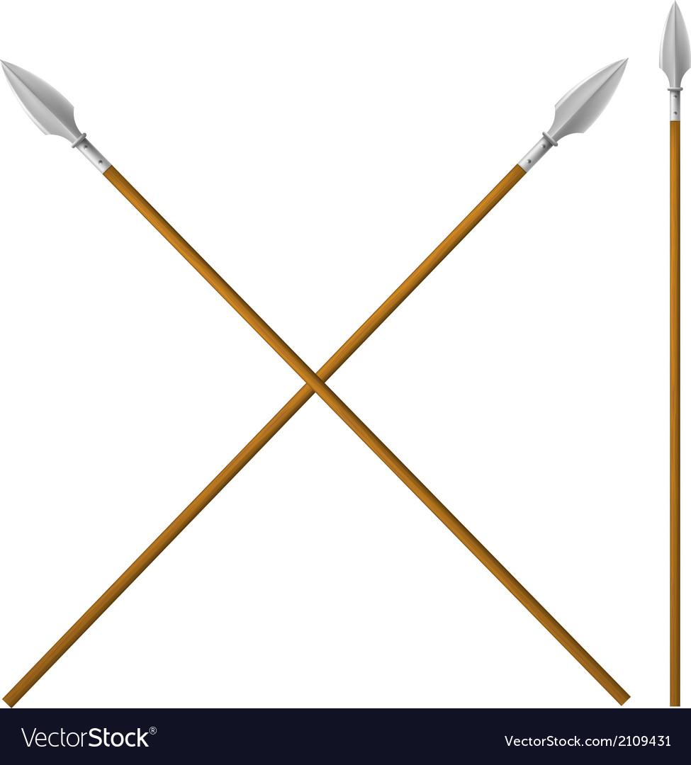 Military spears vector