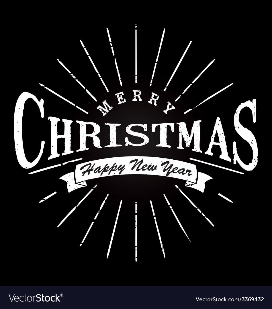 Merry christmas typography vector