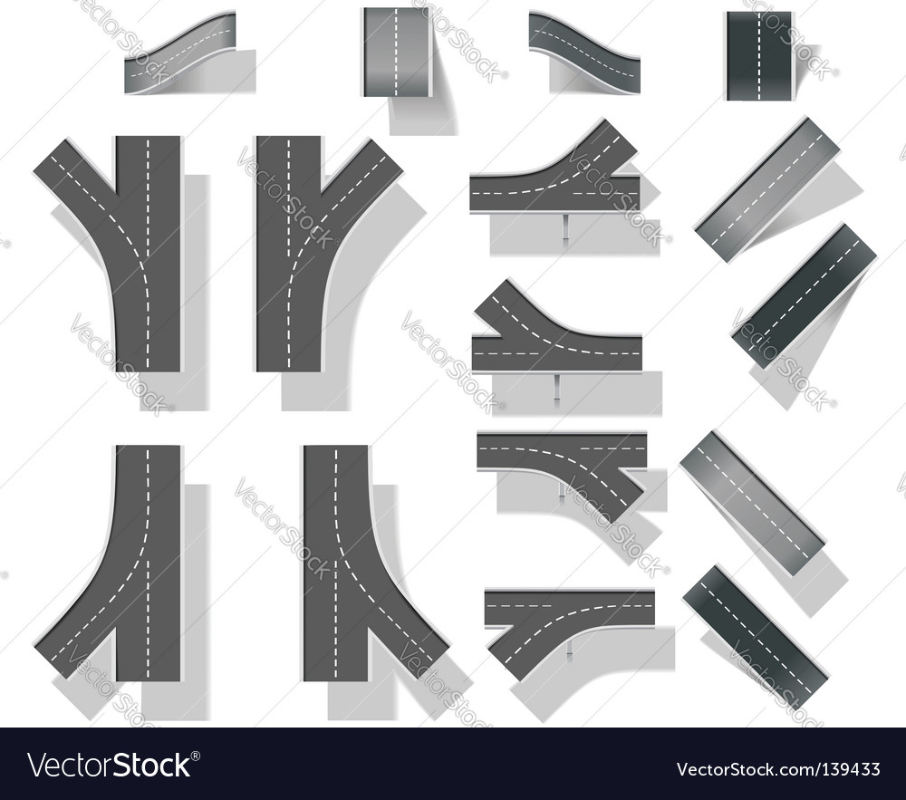 Map design elements vector