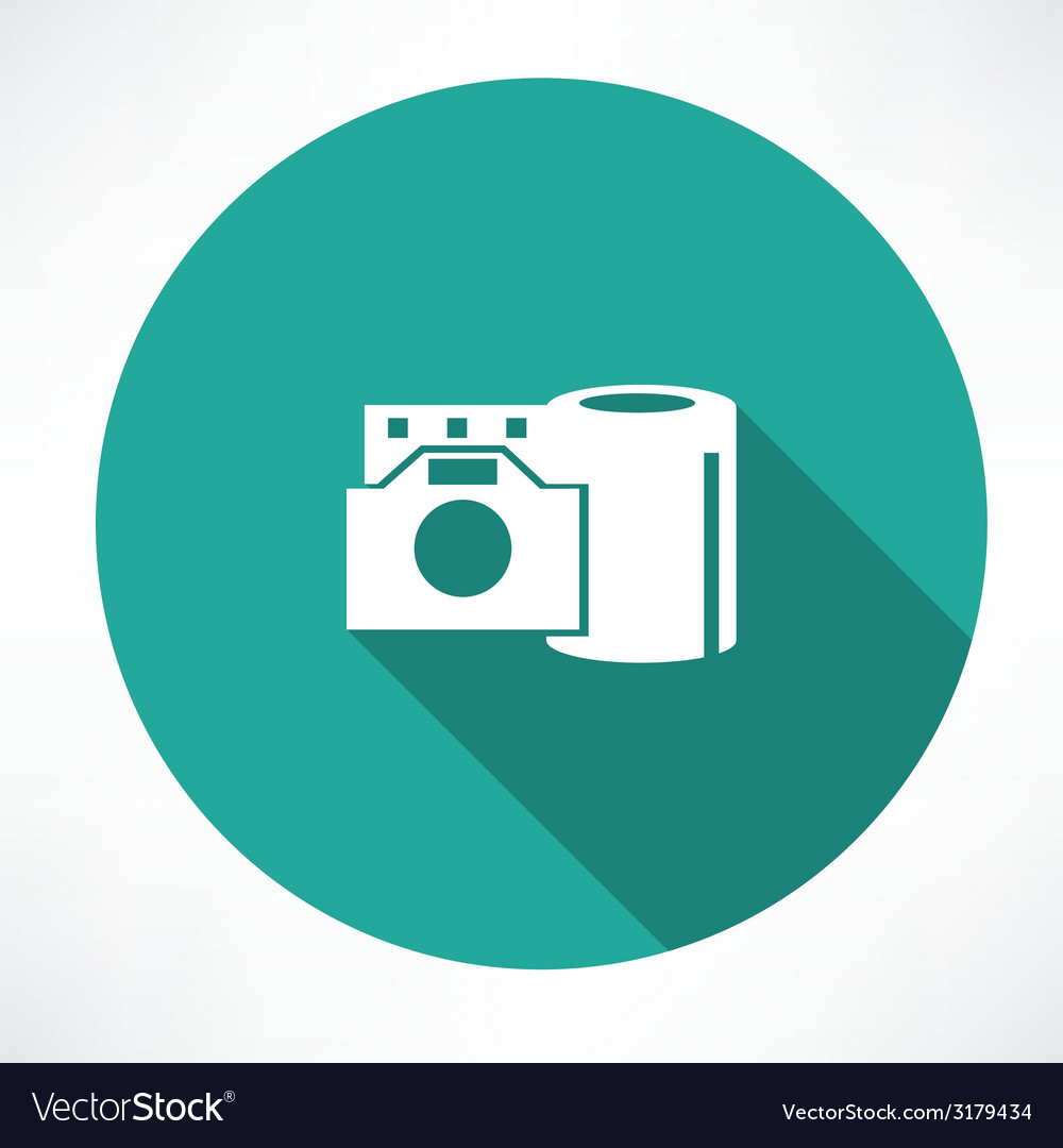 Film reel and the camera icon vector