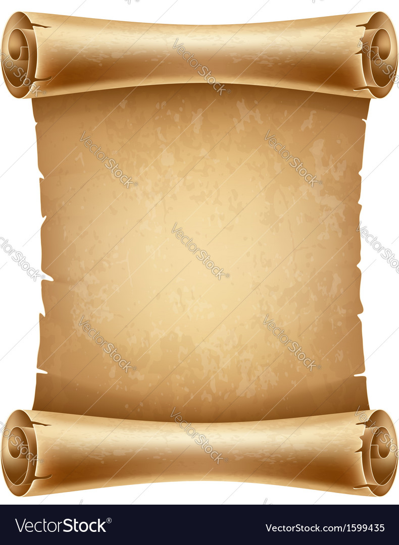 Scroll paper vector