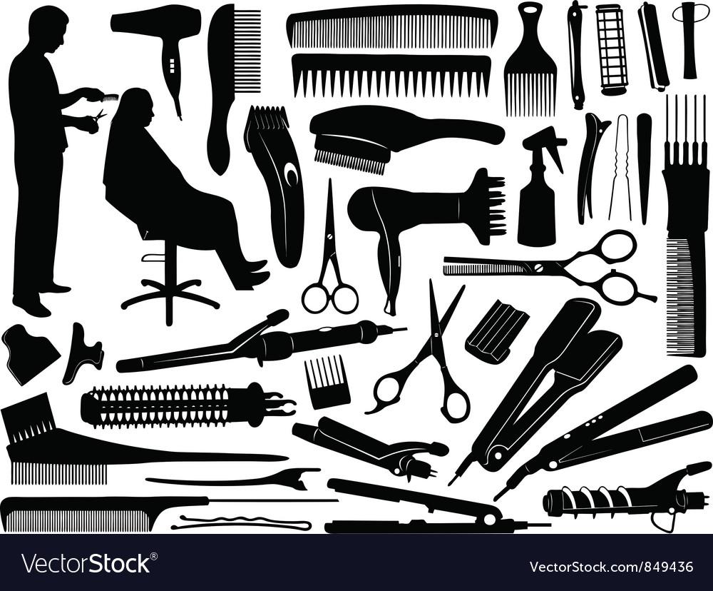Hair accessories vector