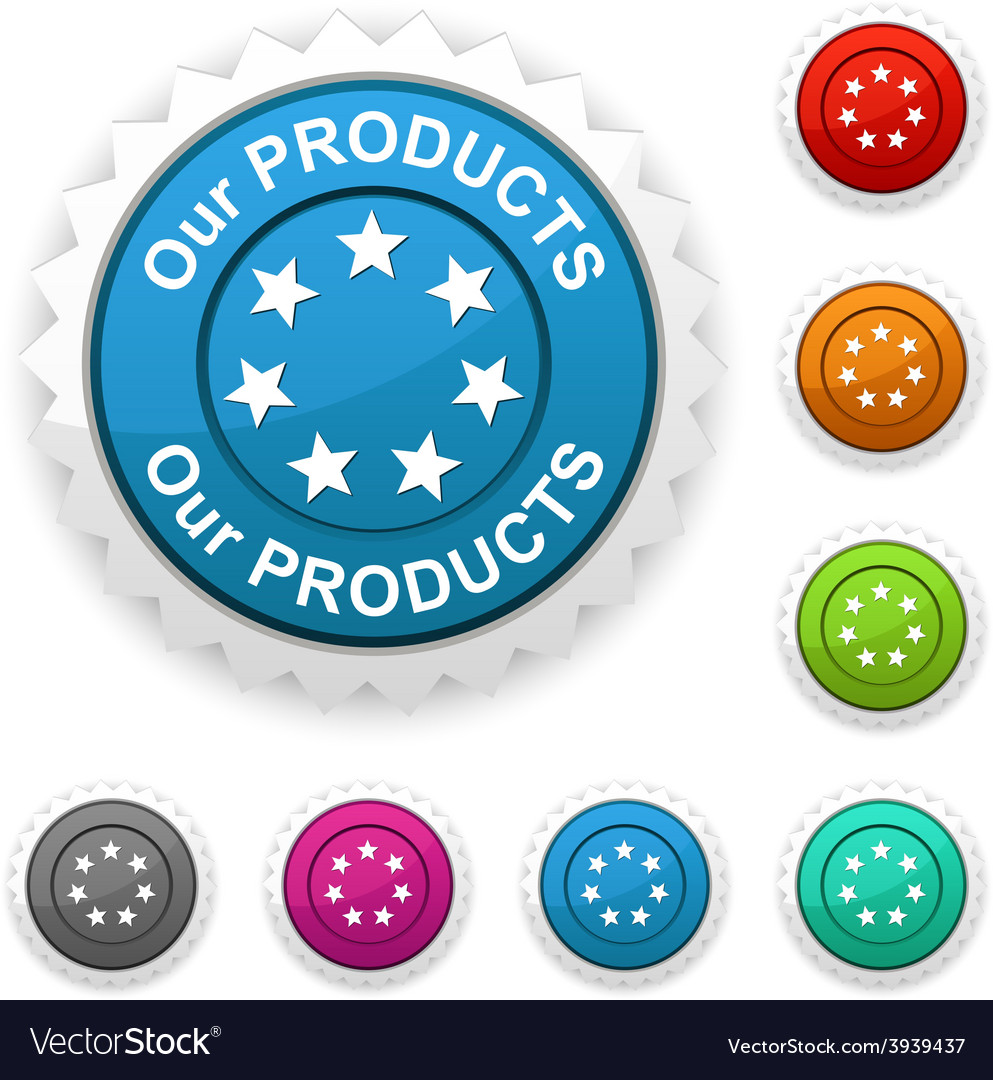 Our products award vector