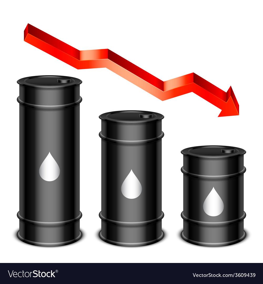 Falling oil price concept vector