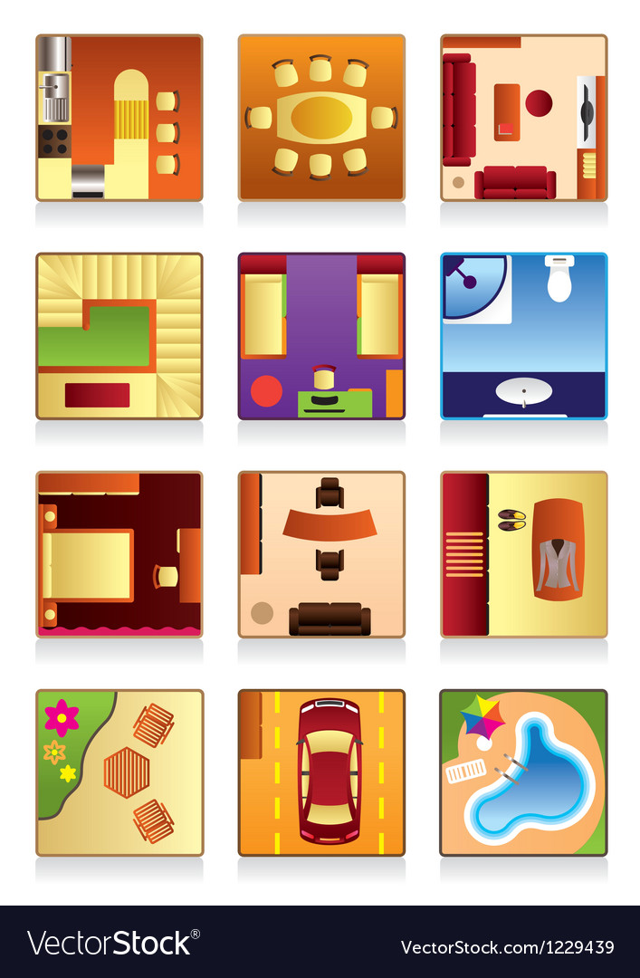 Furniture of the house vector