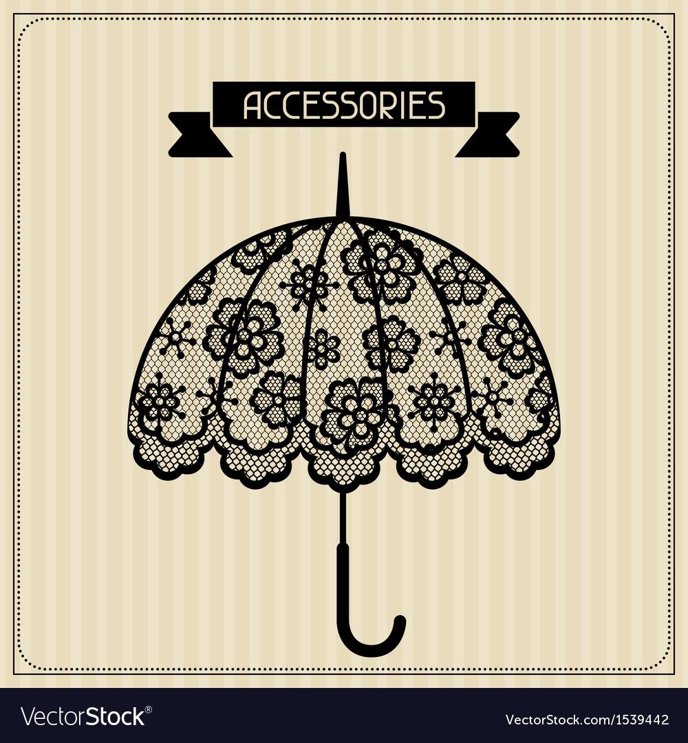 Accessories vintage lace background floral vector