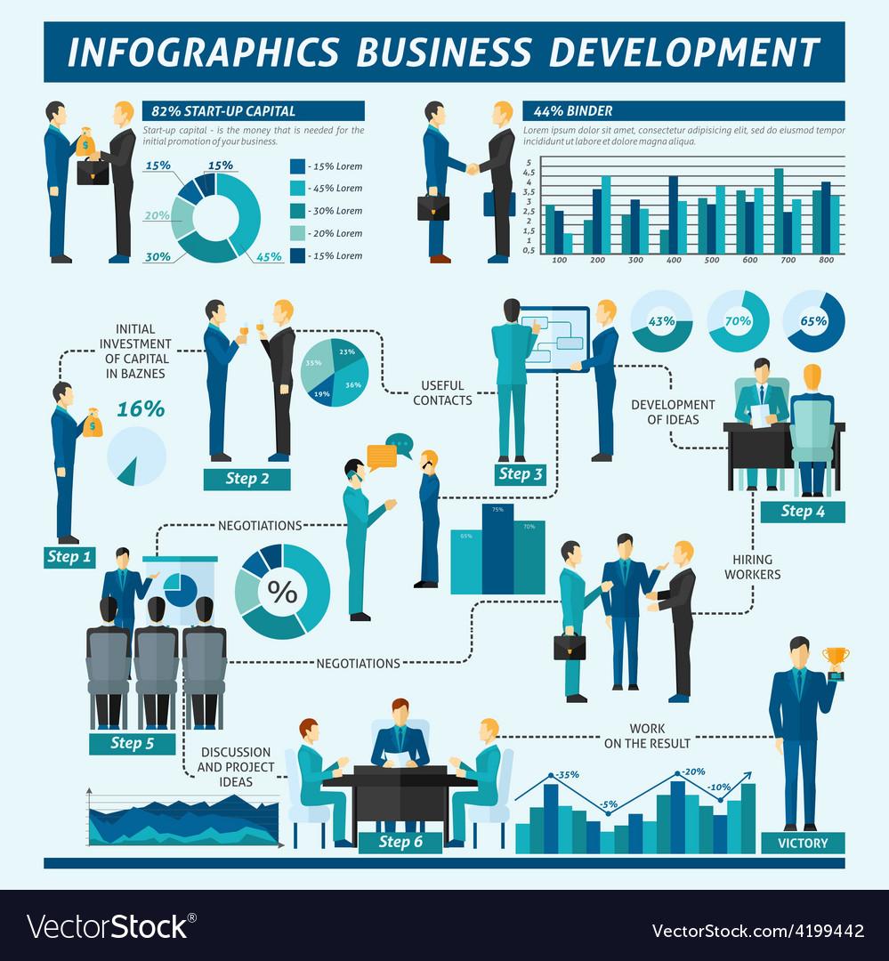 Businessmen infographics set vector