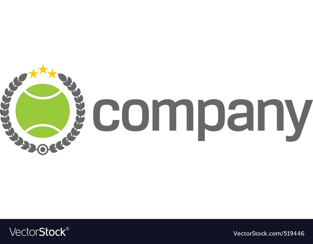 Tennis ball logo vector
