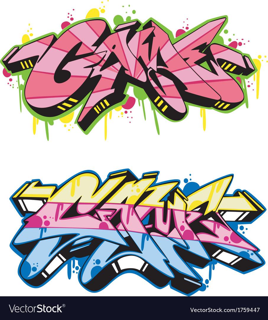Graffito - game vector