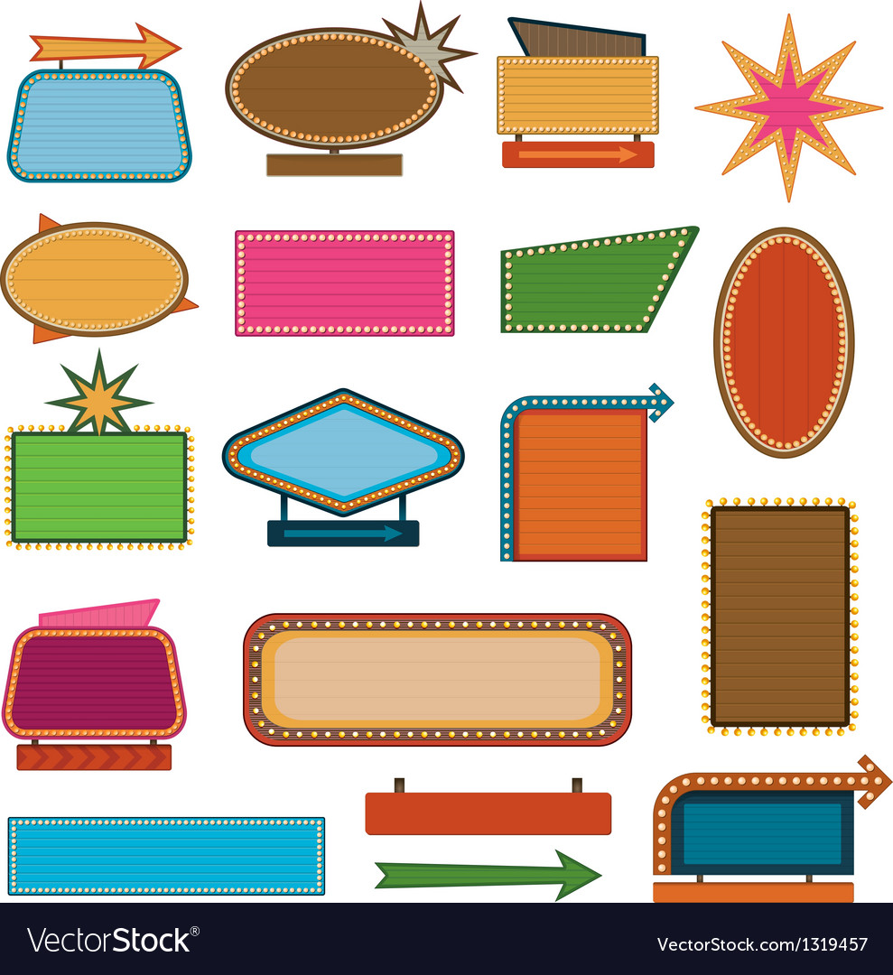 Retro vintage signs and sale labels vector