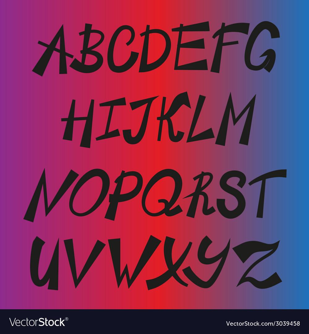 Handwriting stylish alphabet vector