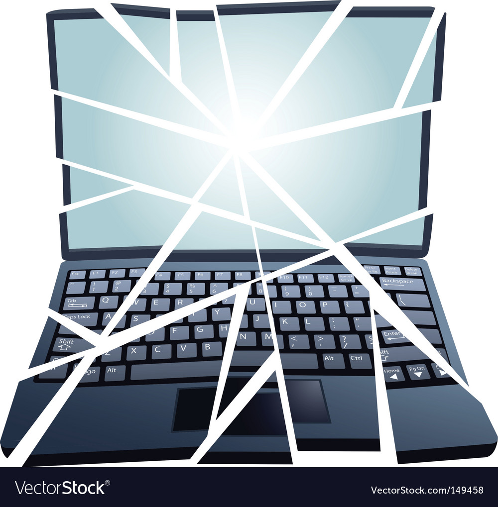 Laptop repair vector