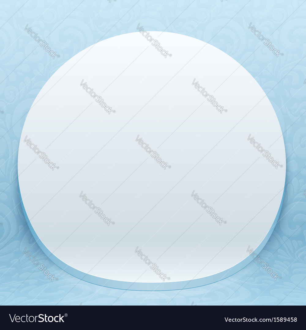 White realistic plastic round backdrop vector