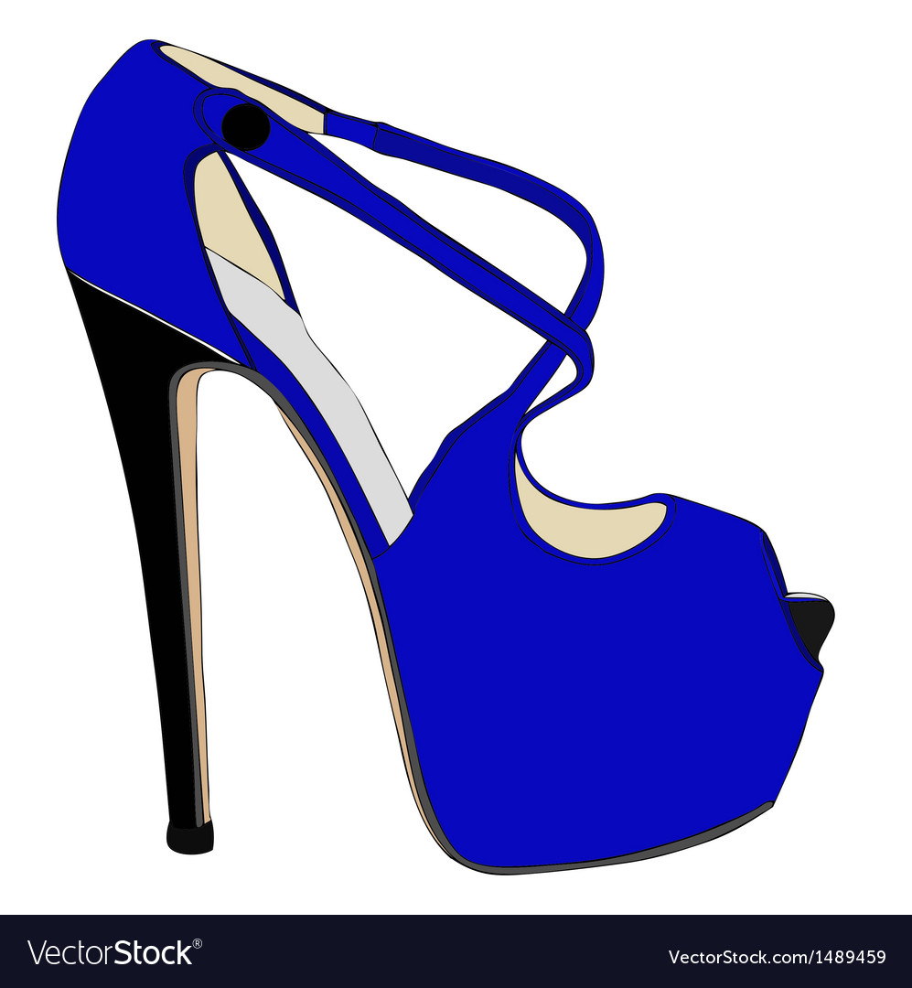 Fine fashion shoes vector