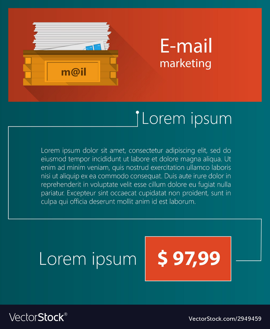 Flat minimalist template business design email vector