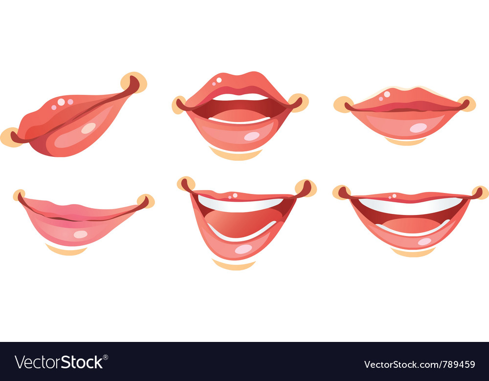 Sexy woman smile lips vector