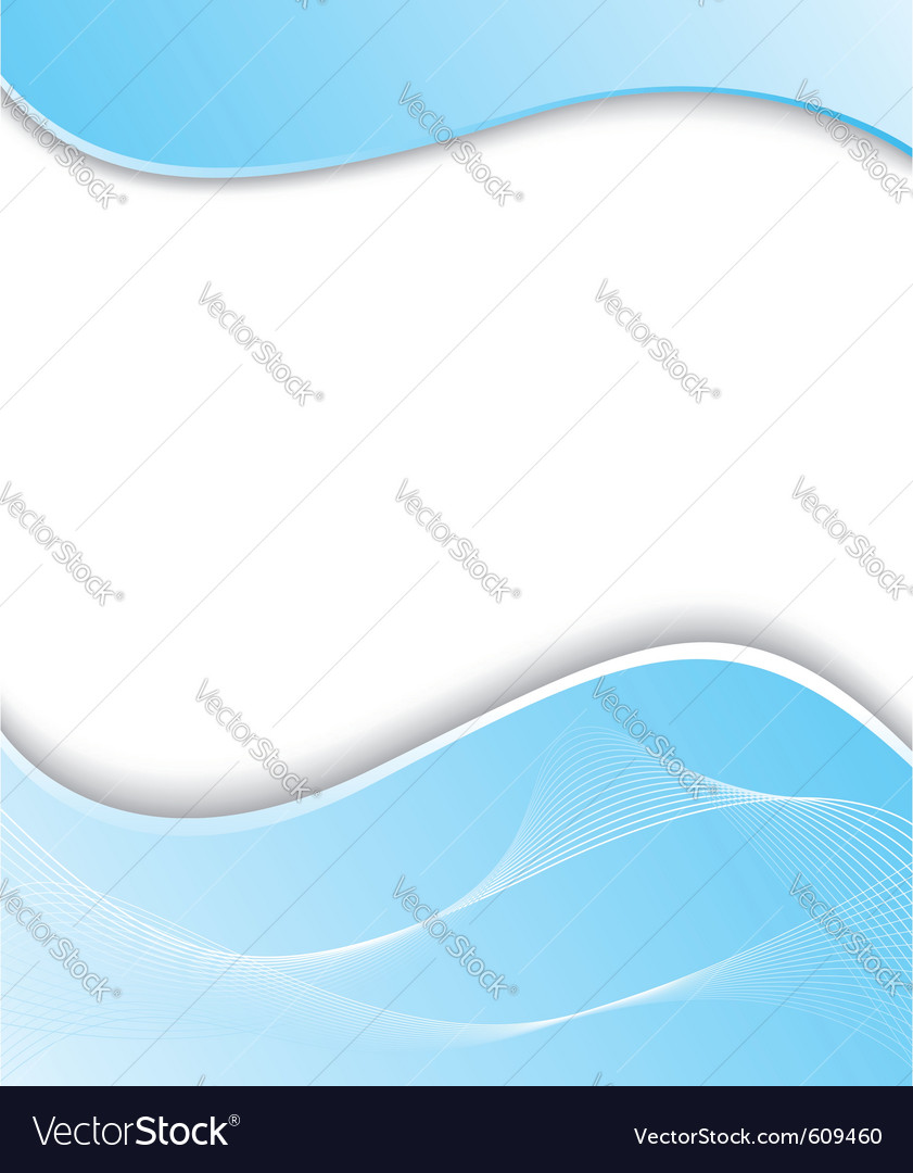 Wavy blue background template vector