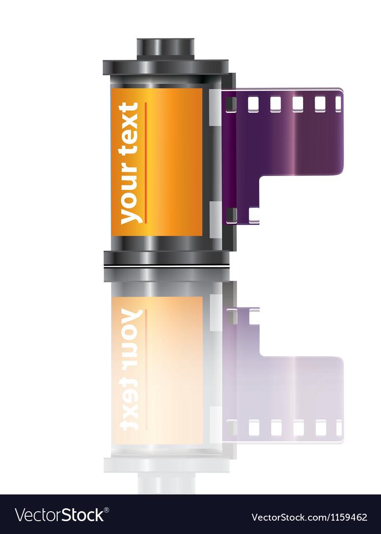 Filmstrip icon vector