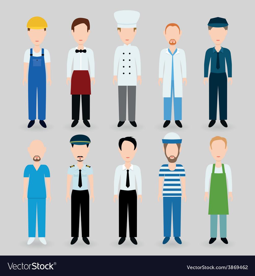 Men profession vector