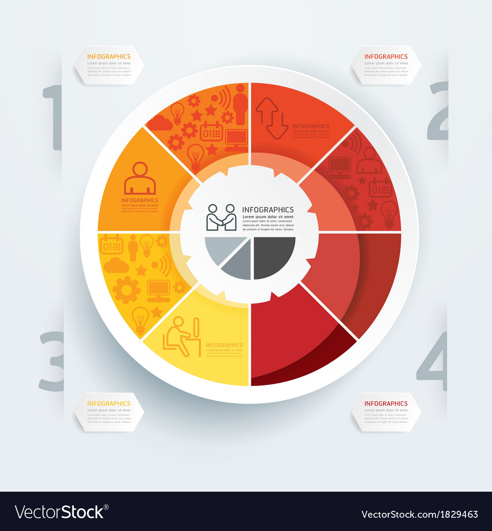 Business diagram template can be used for infogra vector