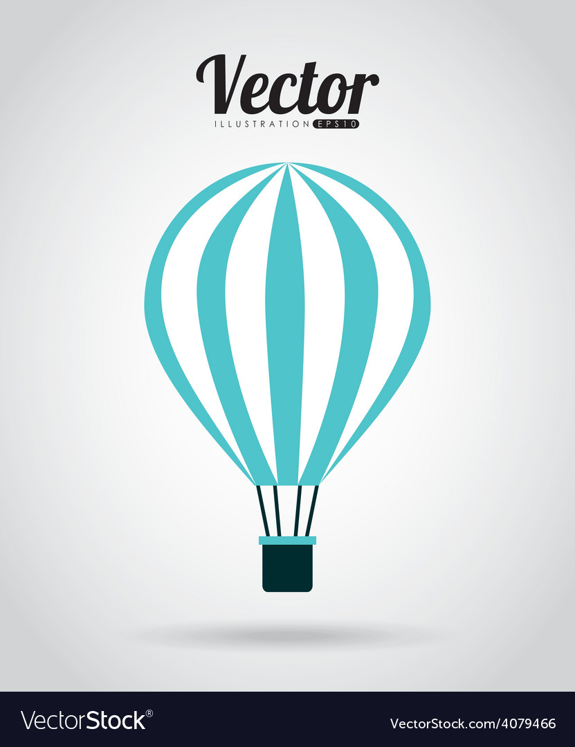 Balloon air design vector
