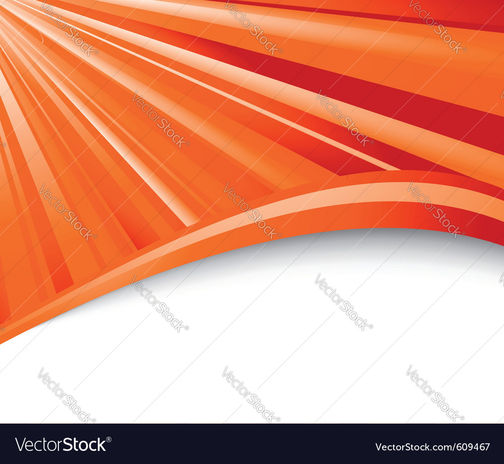 Abstract orange ray background vector