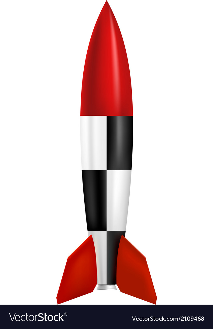 Rocket on white background vector