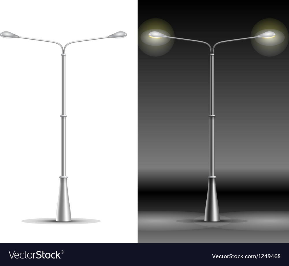 Street lamp lanterns vector