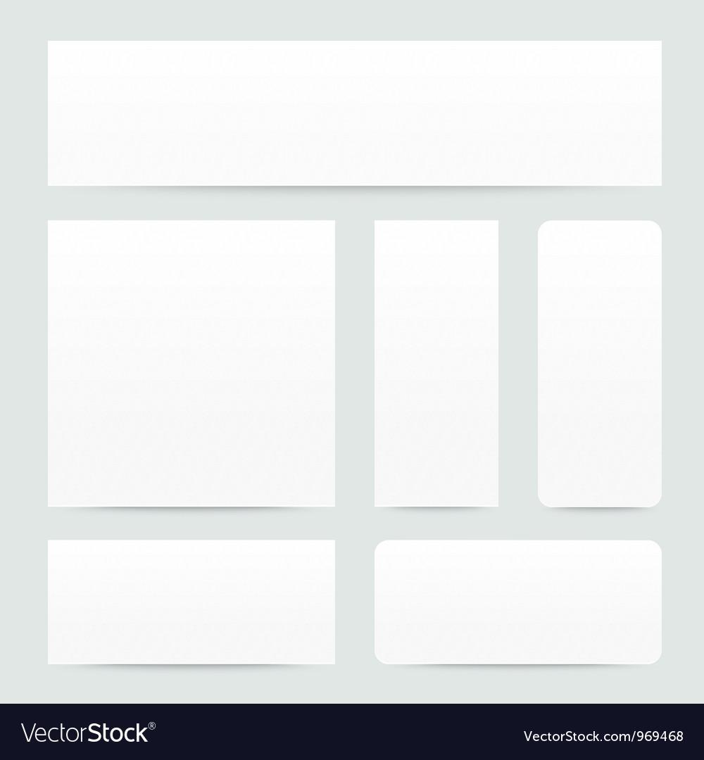 White paper banner set vector