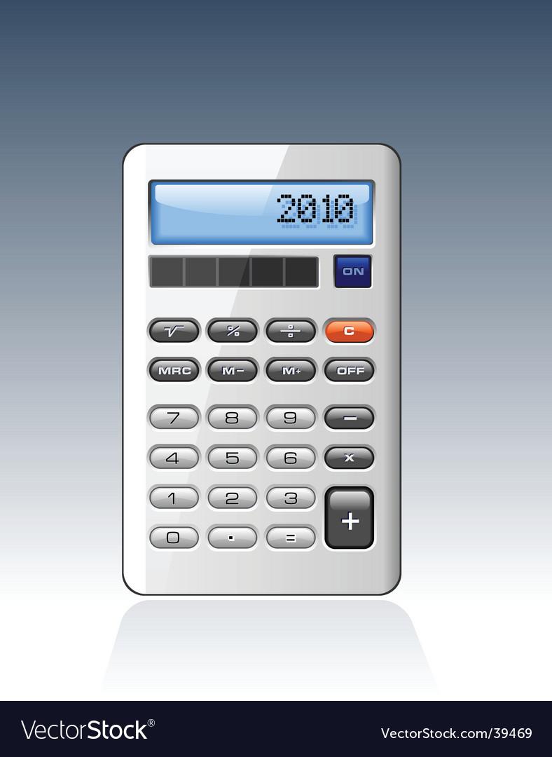 Silver calculator vector