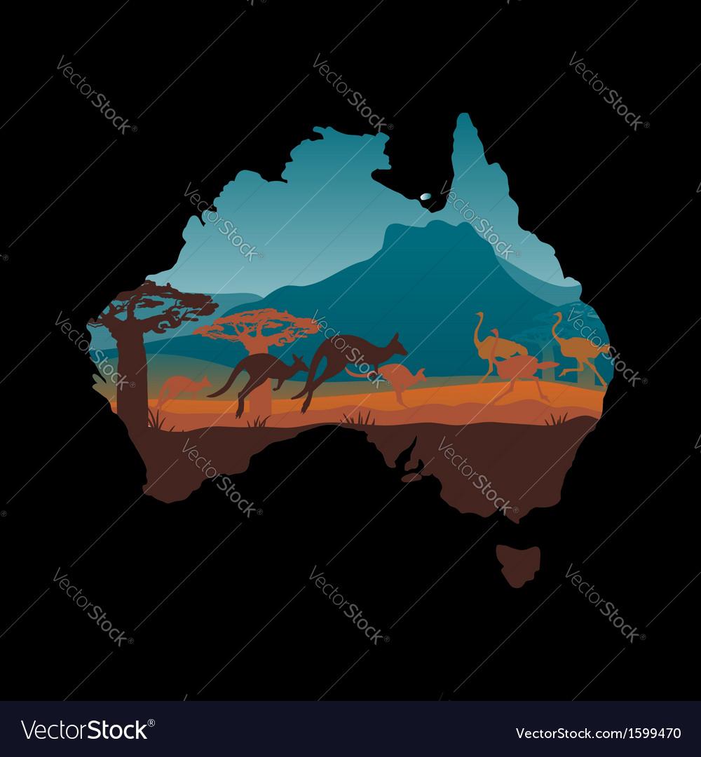 Australia travel design template vector