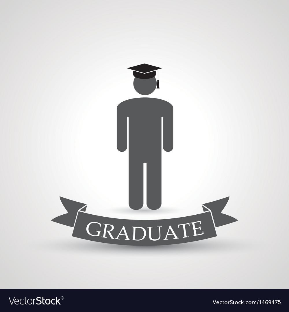 Graduate symbol vector