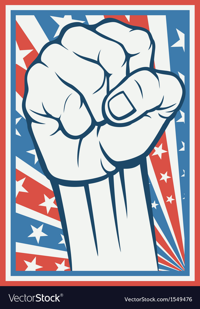 Fist poster vector