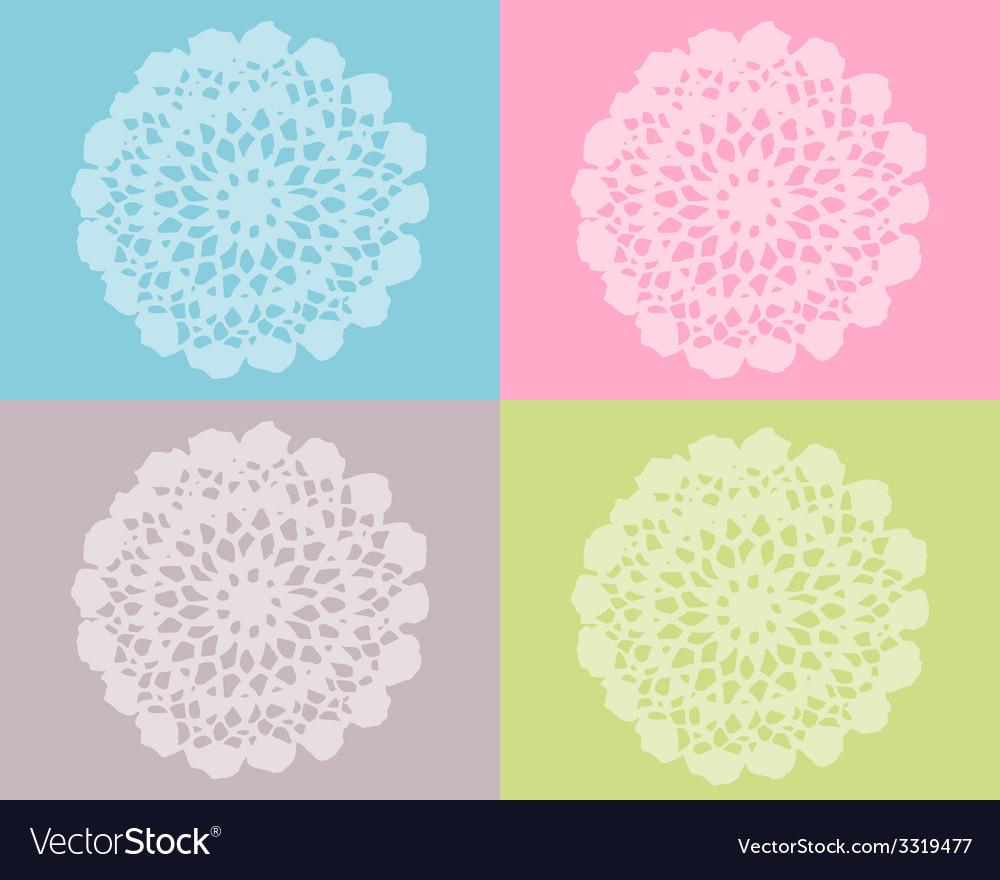 Crochet work vector