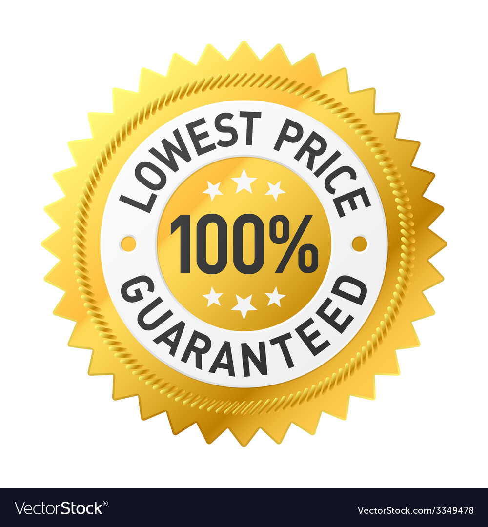 Lowest price guaranteed sticker vector