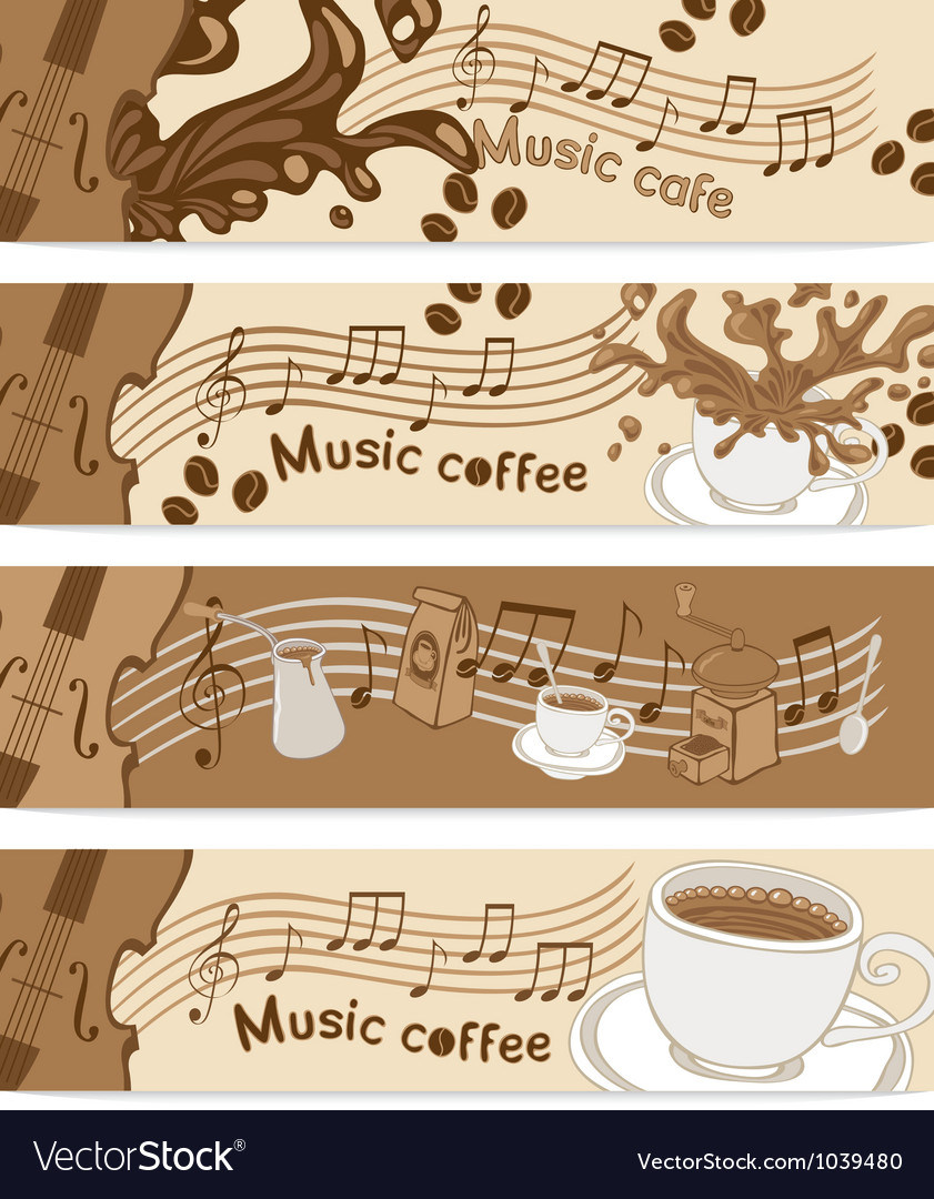 Music cafe vector