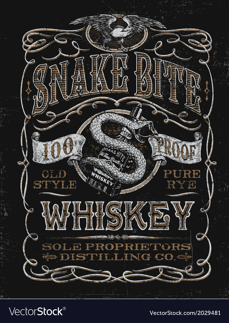 Vintage whiskey label t-shirt graphic vector