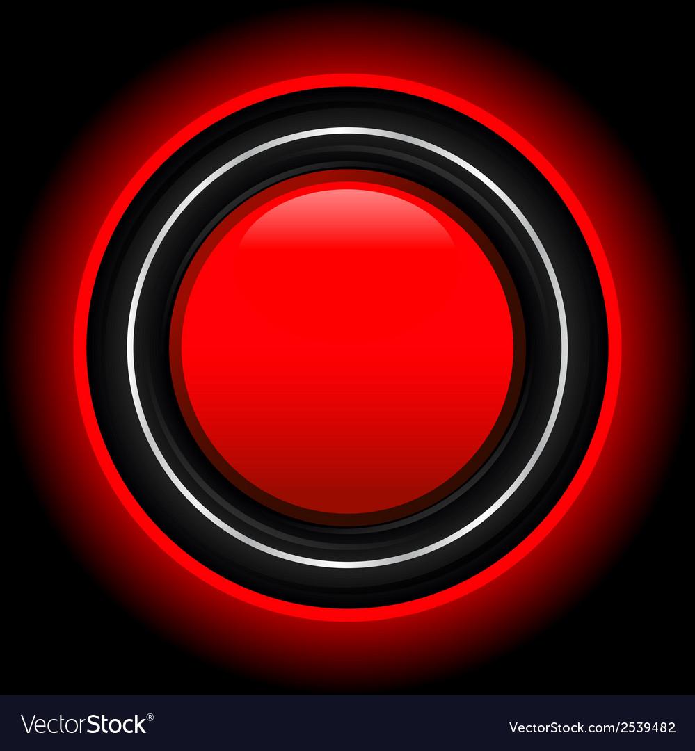 Futuristic red button vector