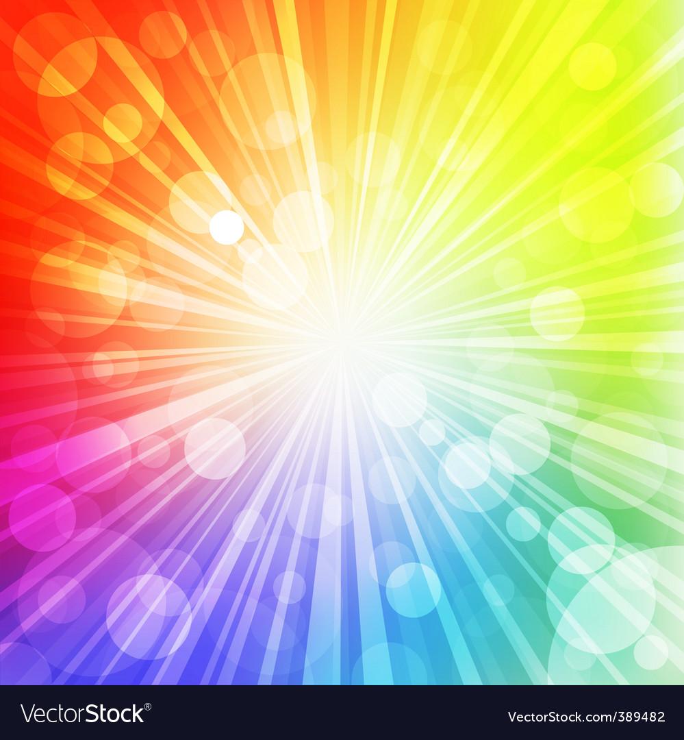 Rainbow sun vector