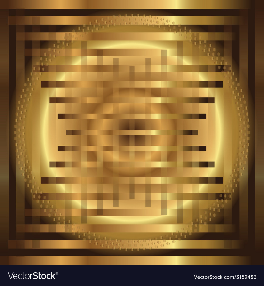 Abstract grid circle golden background vector