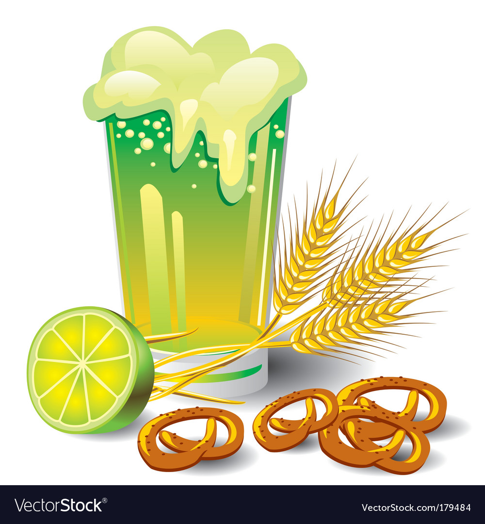 Green beer vector