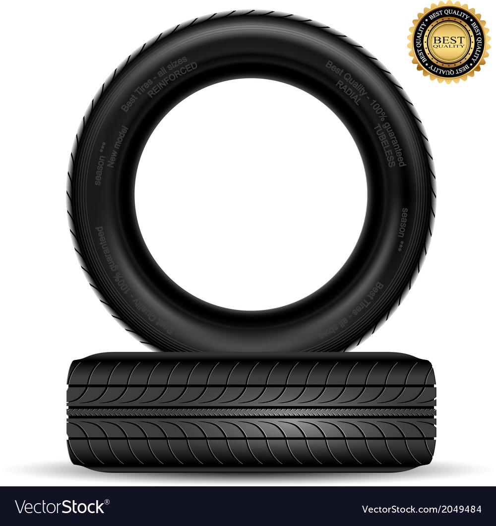 Tire black best vector