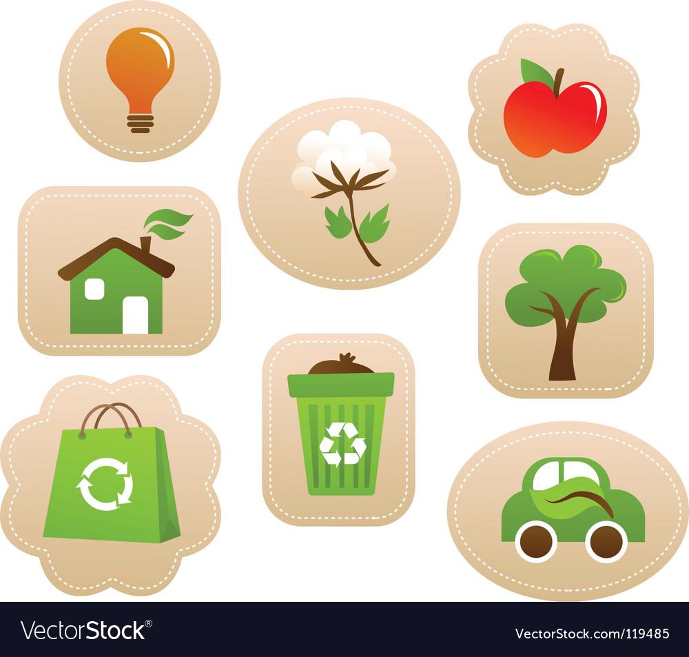 Nature sticker vector